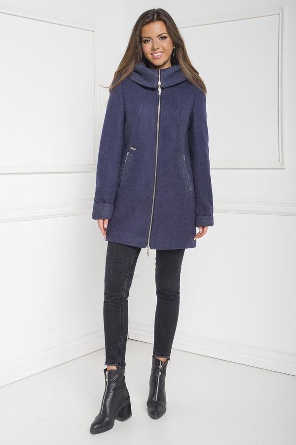 Niebieski płaszcz Marcelini z wełny