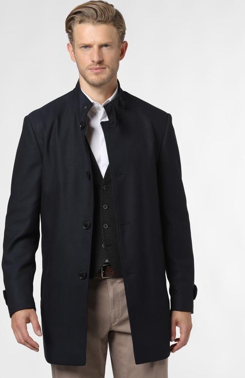 Niebieski płaszcz męski Finshley & Harding