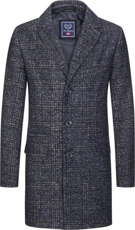 Niebieski płaszcz męski Tom Rusborg