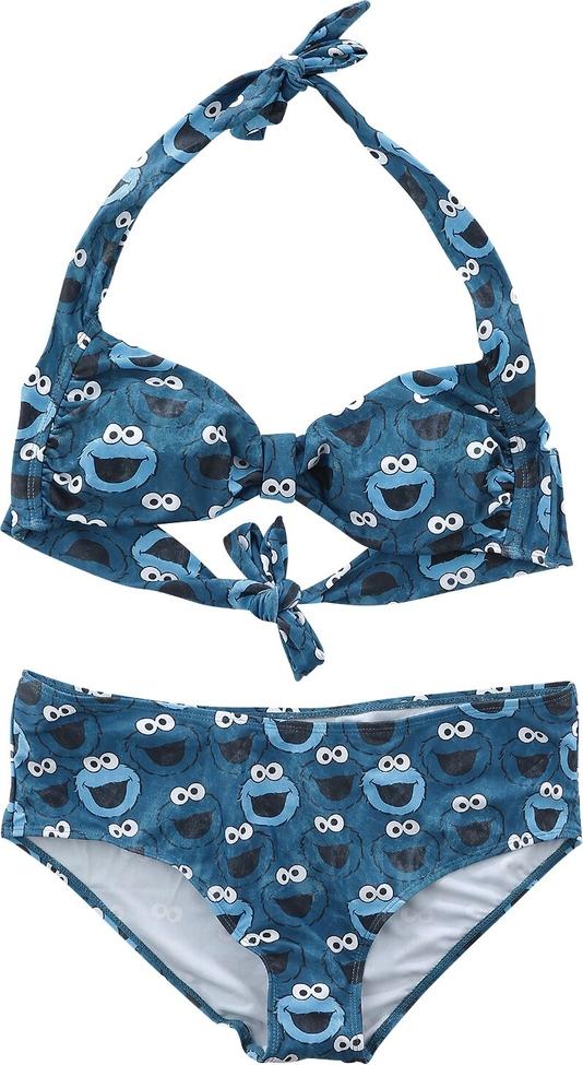 Niebieski strój kąpielowy Emp z nadrukiem w stylu casual