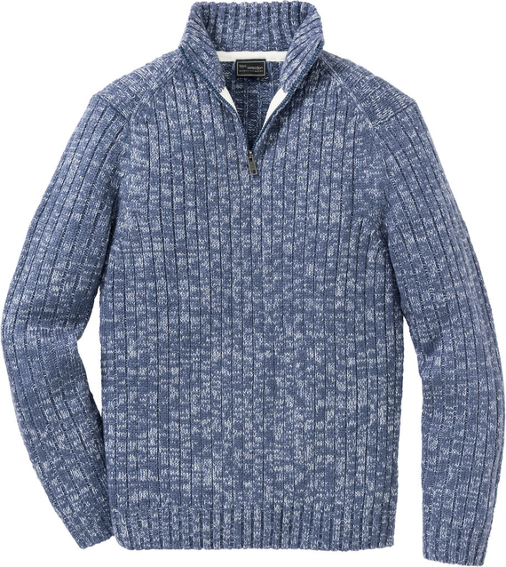 Niebieski sweter bonprix bpc selection z dzianiny