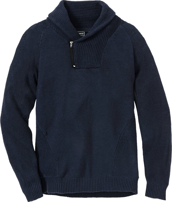 Niebieski sweter bonprix RAINBOW
