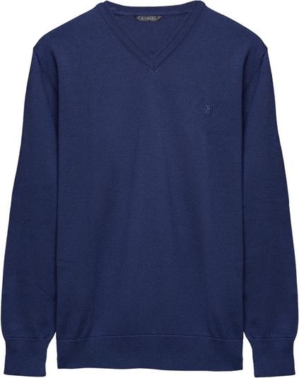 Niebieski sweter Borgio z bawełny w stylu casual