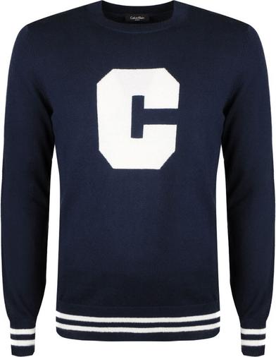 Niebieski sweter Calvin Klein z bawełny