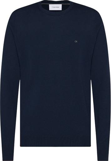 Niebieski sweter Calvin Klein z wełny
