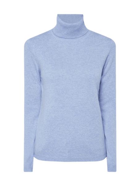 Niebieski sweter Christian Berg Women z kaszmiru w stylu casual