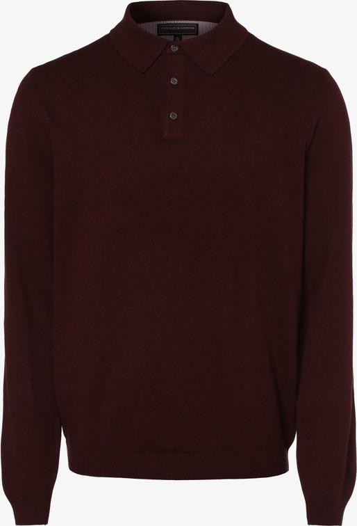 Niebieski sweter Finshley & Harding z bawełny w stylu casual