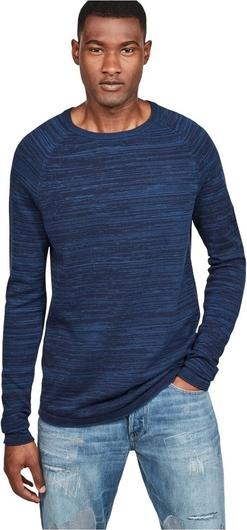 Niebieski sweter G-star z bawełny