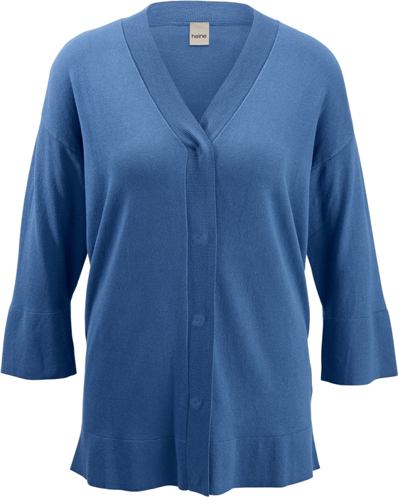Niebieski sweter Heine w stylu casual z dzianiny