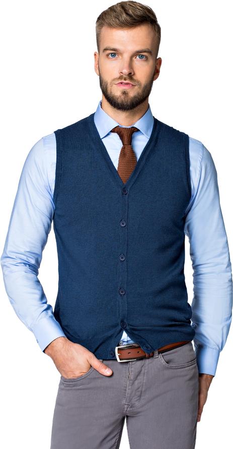 Niebieski sweter LANCERTO z jeansu
