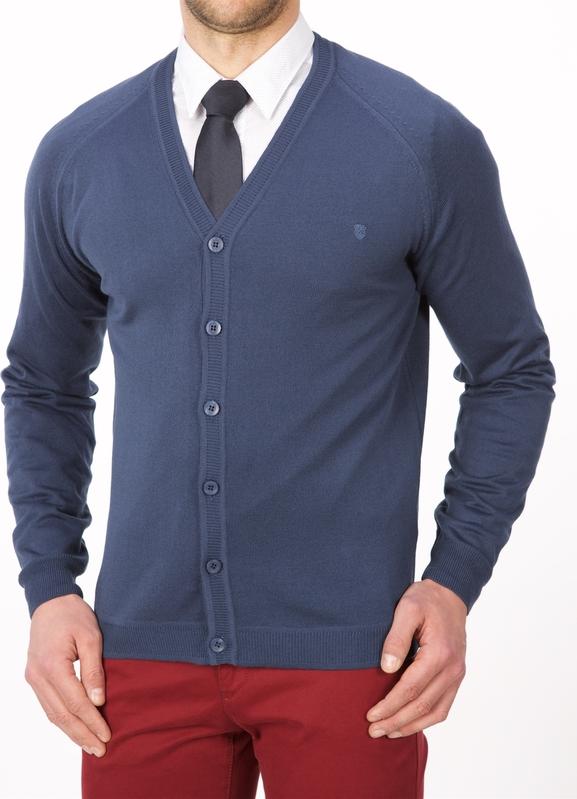 Niebieski sweter Lanieri w stylu casual z bawełny