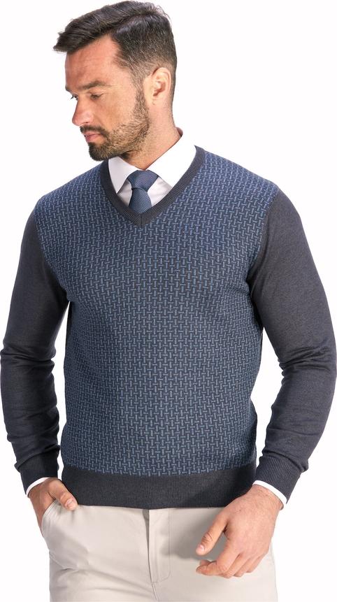 Niebieski sweter Lanieri z bawełny