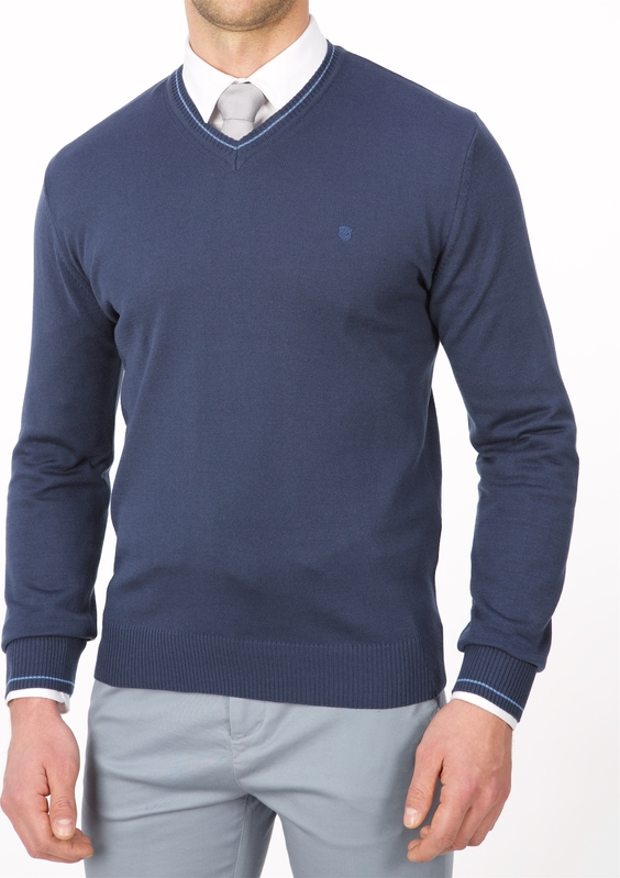 Niebieski sweter Lanieri z bawełny w stylu casual
