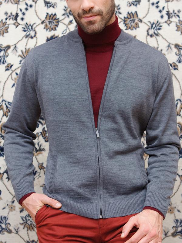 Niebieski sweter Lanieri z wełny