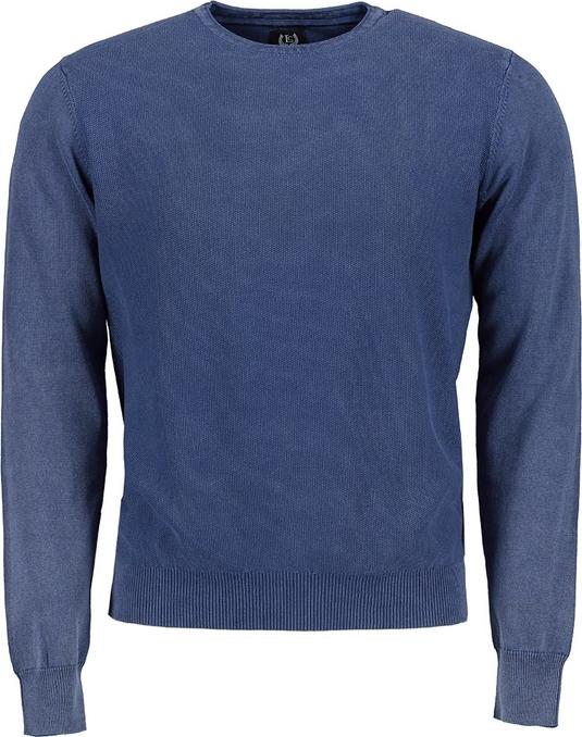 Niebieski sweter Lavard z bawełny