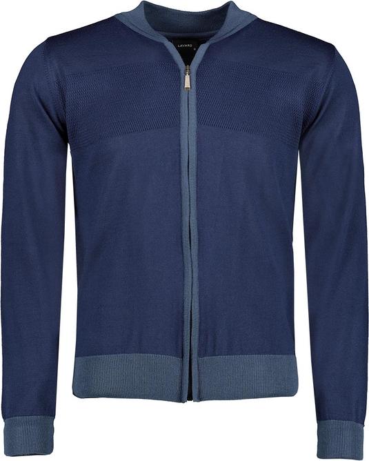 Niebieski sweter Lavard z wełny