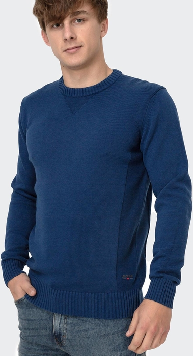 Niebieski sweter Lee Cooper z bawełny