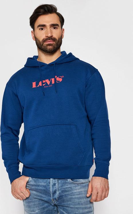 Niebieski sweter Levis z bawełny