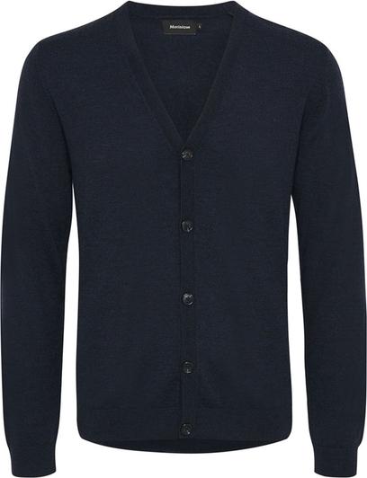 Niebieski sweter Matinique w stylu casual z wełny