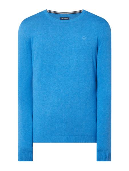 Niebieski sweter McNeal w stylu casual z bawełny
