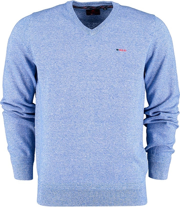 Niebieski sweter New Zealand Auckland w stylu casual z bawełny