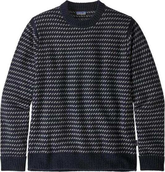 Niebieski sweter Patagonia z dżerseju