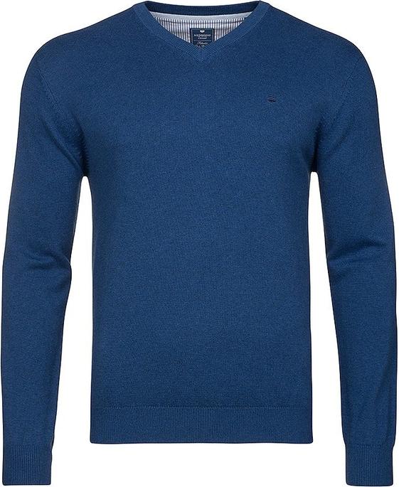 Niebieski sweter Redmond z bawełny