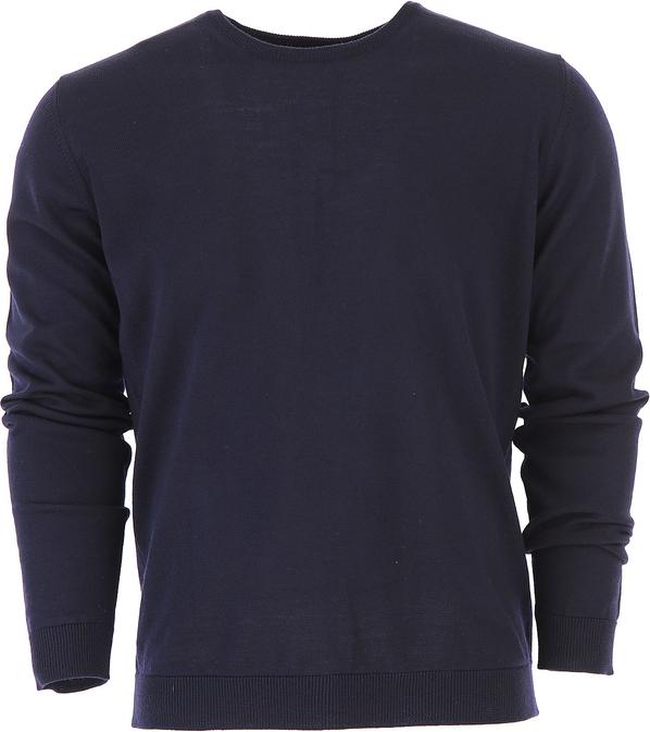 Niebieski sweter Roberto Collina z wełny