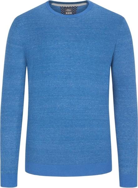 Niebieski sweter S.Oliver z bawełny