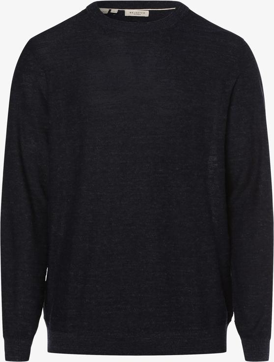 Niebieski sweter Selected z dzianiny