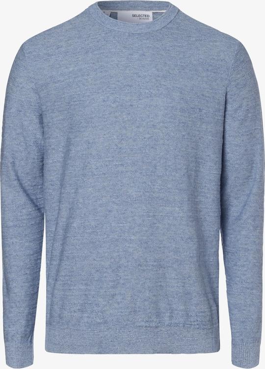 Niebieski sweter Selected z okrągłym dekoltem w stylu casual
