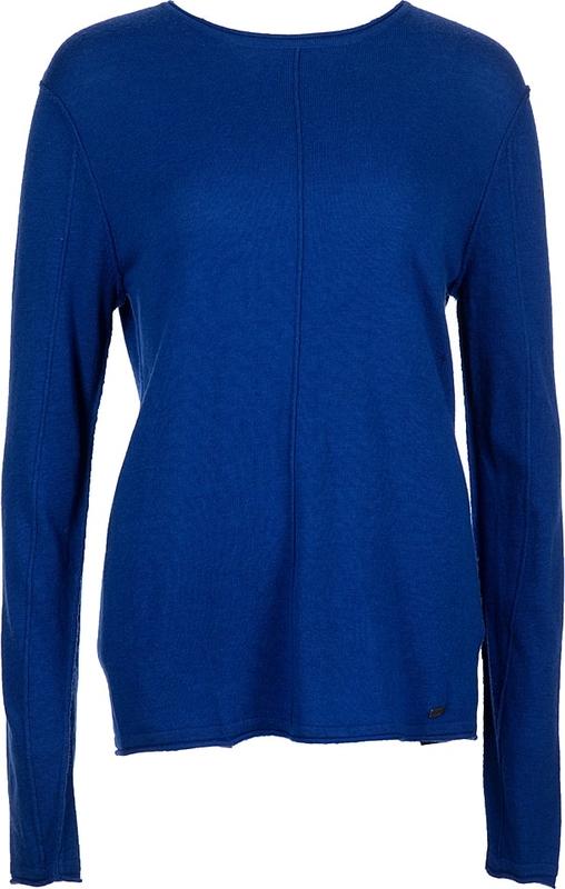 Niebieski sweter Tigha z okrągłym dekoltem z wełny