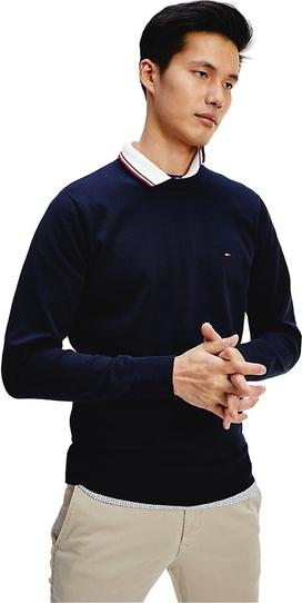 Niebieski sweter Tommy Hilfiger z bawełny