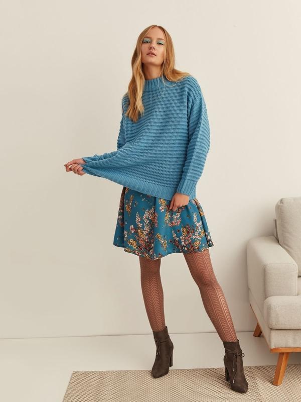 Niebieski sweter Top Secret w stylu casual