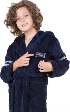 Niebieski szlafrok dziecięcy Xoxoxo