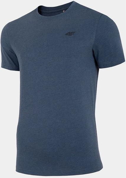 Niebieski t-shirt 4F z krótkim rękawem w sportowym stylu