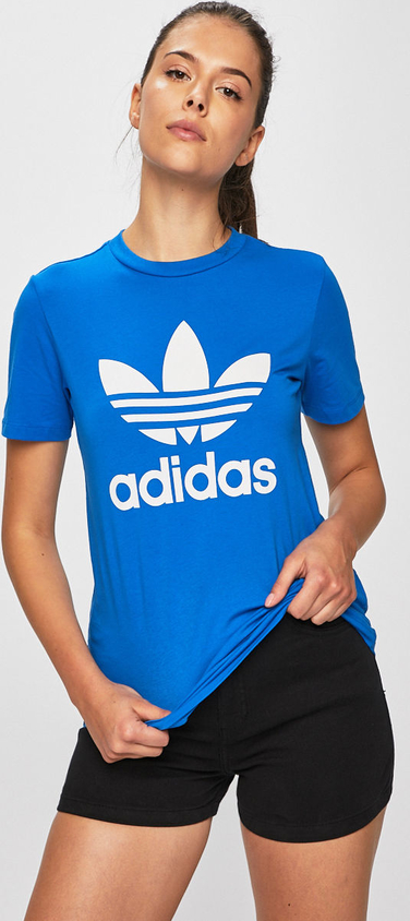 Niebieski t-shirt Adidas Originals
