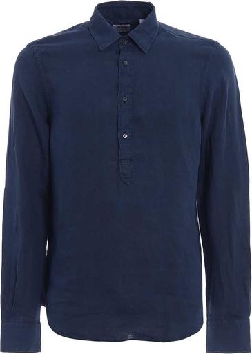 Niebieski t-shirt Aspesi