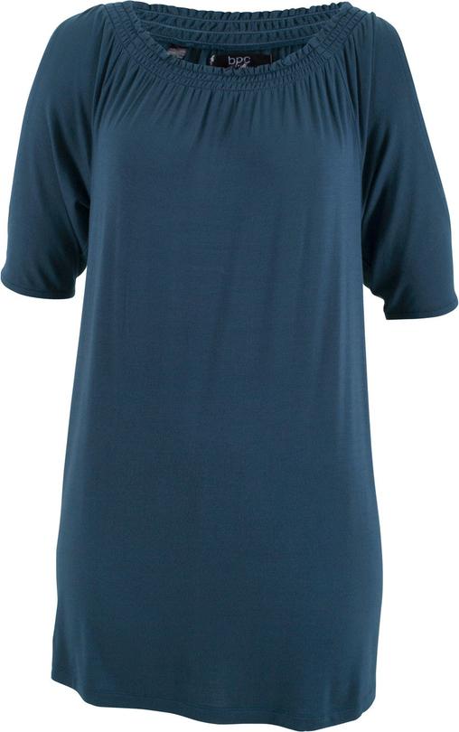 Niebieski t-shirt bonprix bpc bonprix collection w stylu casual