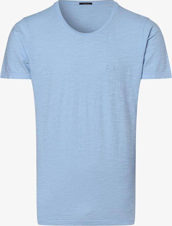 Niebieski t-shirt Denham w stylu casual