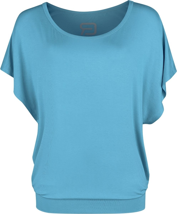 Niebieski t-shirt Emp z krótkim rękawem w stylu casual