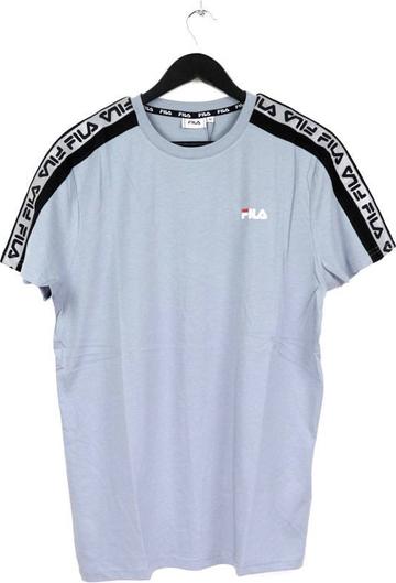 Niebieski t-shirt Fila z krótkim rękawem z bawełny w sportowym stylu