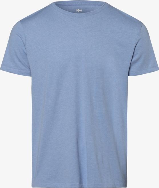 Niebieski t-shirt Nils Sundström w stylu casual