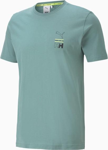 Niebieski t-shirt Puma z krótkim rękawem w sportowym stylu