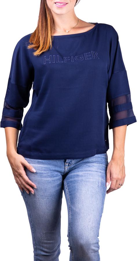 Niebieski t-shirt Tommy Hilfiger w stylu casual