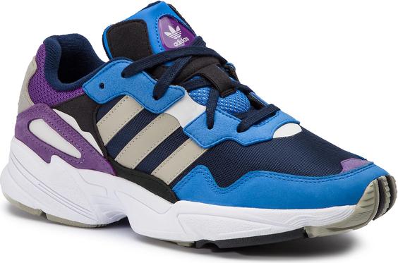 Niebieskie buty sportowe Adidas w sportowym stylu ze skóry ekologicznej