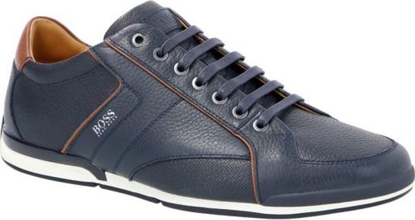 Niebieskie buty sportowe Boss sznurowane