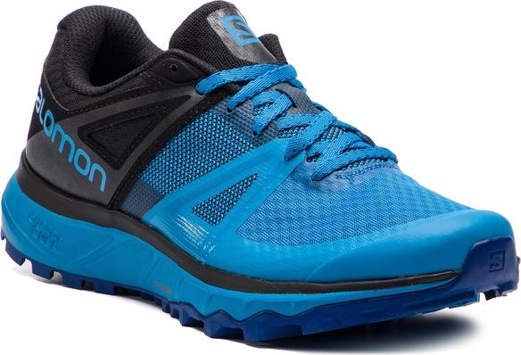 Niebieskie buty sportowe Salomon ze skóry ekologicznej