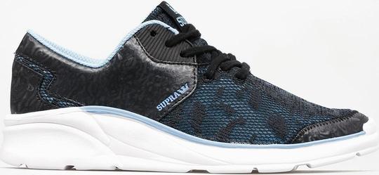 Niebieskie buty sportowe Supra z płaską podeszwą w