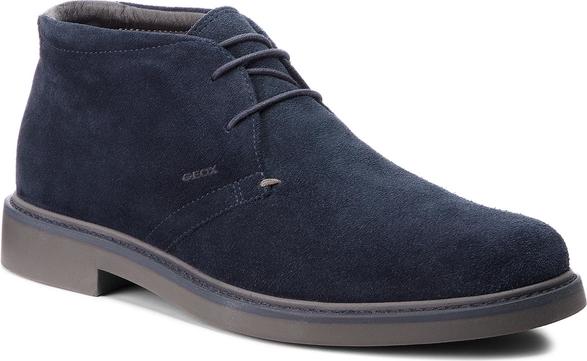 Niebieskie buty zimowe Geox sznurowane